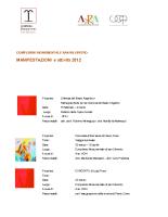 PROGRAMMA MANIFESTAZIONI 2012