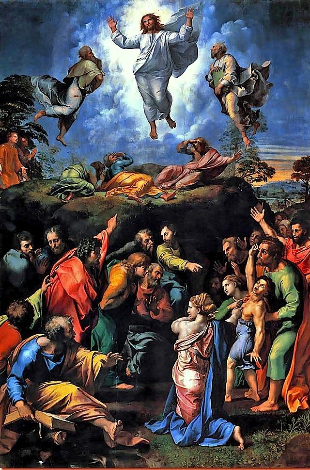 Raffaello Trasfigurazione Pinacoteca Vaticana